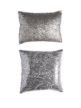 sequin-floral-lace-cushion-pair