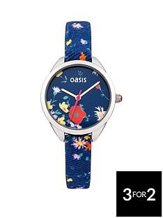 oasis-oasis-navy-floral-dial-floral-strap-ladies-watch