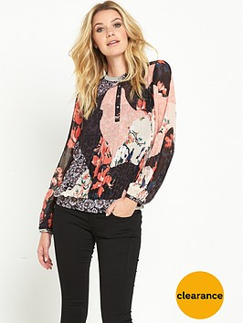 guess-alva-blended-blooms-pleated-top