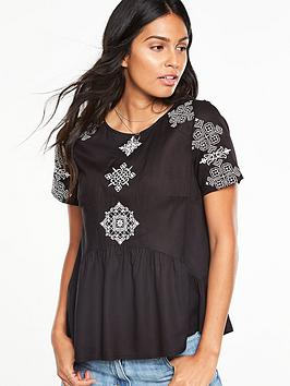 v-by-very-mono-embroidered-top
