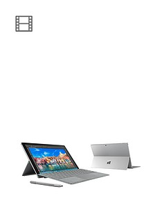 microsoft-surface-pro-4-intelreg-coretrade-i5-processor-4gb-ram-128gb-ssd-wi-fi-123-inch-alcantara-tablet-with-optional-microsoft-office-grey