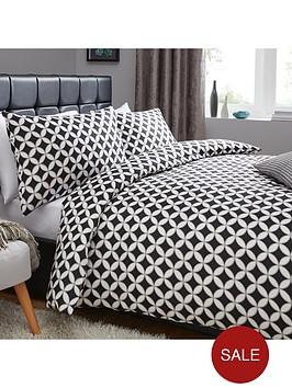 geometric-circles-print-duvet-set-blackwhite