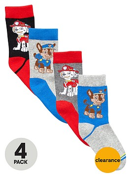 paw-patrol-boys-marshall-and-chase-socks-4-pack