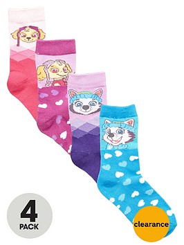 paw-patrol-girls-ankle-socks-4-pack