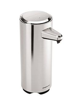 simplehuman-rechargeable-sensor-soap-pump-in-brushed-nickel-ndash-325ml-capacity