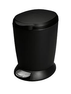 simplehuman-6-litre-plastic-pedal-bin-ndash-black