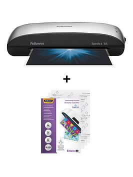 fellowes-spectra-a495-laminator-with-free-25-pack-a4-laminating-pouch