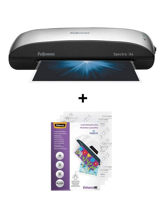 Fellowes Spectra A4 95 Laminator With FREE 25 Pack Laminating Pouch