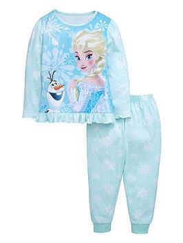 disney-frozen-girls-frill-snowflake-pyjamas