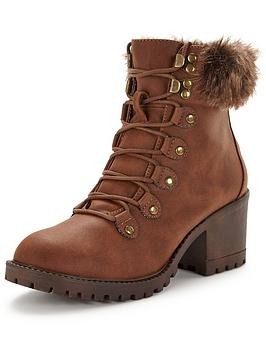 v-by-very-abigail-faux-fur-lace-up-boot-tan