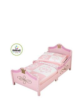 kidkraft princess toddler bed | very.co.uk