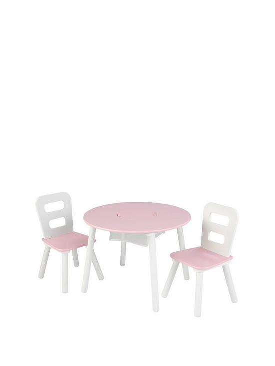 Pink Round Table.Round Table Chair Set Pink