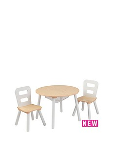 kidkraft-round-table-amp-chair-set-natural