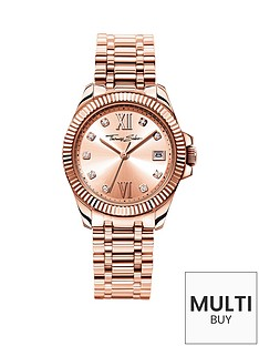 thomas-sabo-divine-rose-tone-dial-stainless-steel-rose-tone-bracelet-ladies-watchnbspplus-free-diamond-bracelet