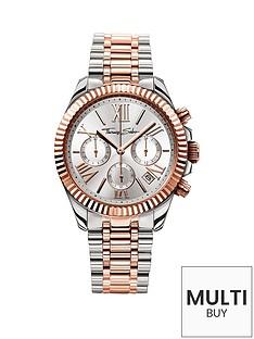 thomas-sabo-divine-silver-tone-chronograph-dial-two-tone-bracelet-ladies-watchnbspplus-free-karma-bead-bracelet