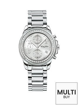 thomas-sabo-glam-chic-silver-tone-chronograph-dial-stainless-steel-bracelet-ladies-watchnbspadd-item-ktjq4-to-basket-to-receive-free-bracelet-with-purchase-for-limited-time-only