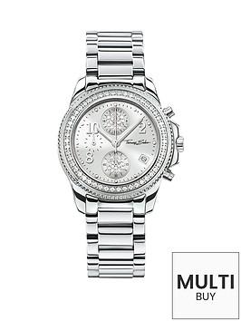 thomas-sabo-glam-chic-silver-tone-chronograph-dial-stainless-steel-bracelet-ladies-watchnbspplus-free-diamond-bracelet