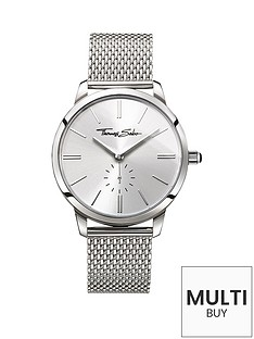 thomas-sabo-eternal-women-silver-dial-stainless-steel-mesh-bracelet-ladies-watchnbspplus-free-diamond-bracelet