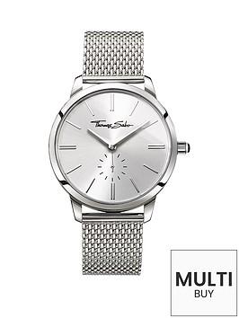 thomas-sabo-eternal-women-silver-dial-stainless-steel-mesh-bracelet-ladies-watchnbspplus-free-diamond-bracelet