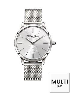 thomas-sabo-eternal-women-silver-dial-stainless-steel-mesh-bracelet-ladies-watchnbspplus-free-karma-bead-bracelet