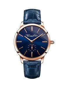 thomas-sabo-eternal-women-blue-dial-rose-tone-leather-strap-ladies-watch