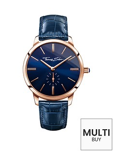 thomas-sabo-eternal-women-blue-dial-rose-tone-leather-strap-ladies-watchnbspplus-free-diamond-bracelet