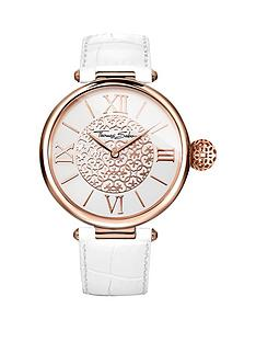 thomas-sabo-karma-white-dial-rose-tone-case-white-leather-strap-ladies-watch