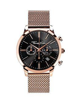 thomas-sabo-eternal-rebel-chronograph-rosenbsptone-stainless-steel-mesh-bracelet-watch