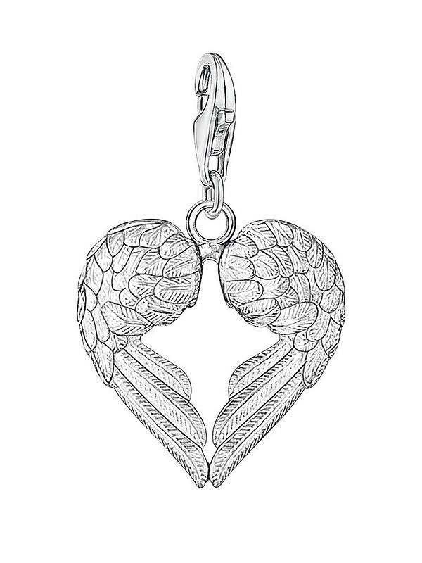 e453f76c56a Thomas Sabo Sterling Silver Charm Club Angel Wings Heart Charm ...