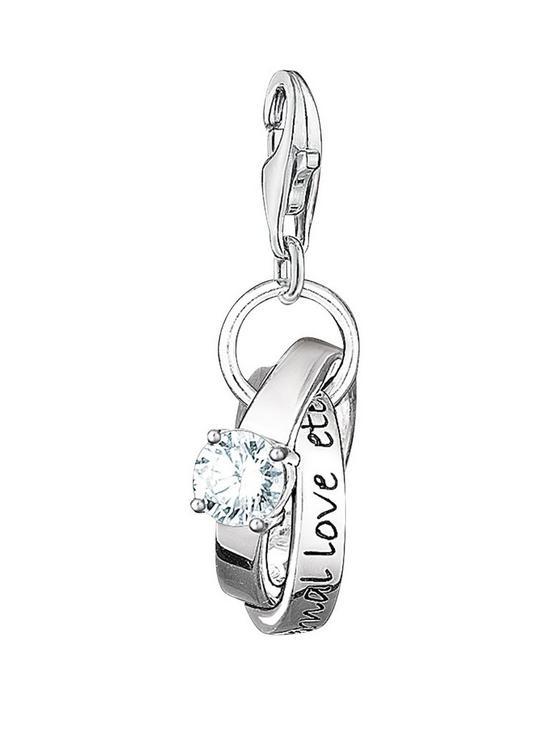 d215617c255 Thomas Sabo Sterling Silver Cubic Zirconia Charm Club Wedding Rings Charm