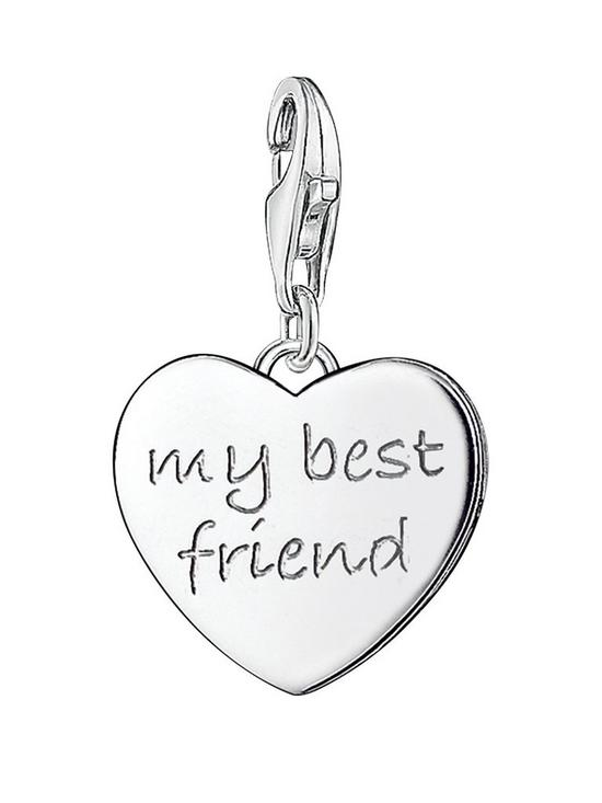 Thomas Sabo Sterling Silver Charm Club My Best Friend Charm Verycouk