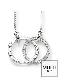 thomas-sabo-together-forever-medium-size-intertwined-rings-necklace-55cmnbspplus-free-diamond-bracelet