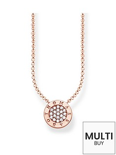 thomas-sabo-sterling-silver-classic-logo-cubic-zirconia-rose-gold-plate-pendant