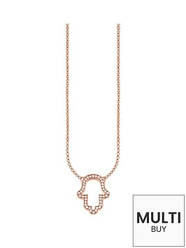 thomas-sabo-hand-of-fatima-necklace-in-rose-goldnbspplus-free-diamond-bracelet