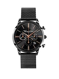 thomas-sabo-eternal-rebel-chornographnbspblack-stainless-steel-mesh-bracelet-watch