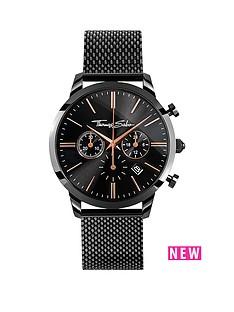 thomas-sabo-eternal-rebel-chornographnbspblack-stainless-steel-mesh-bracelet-watch