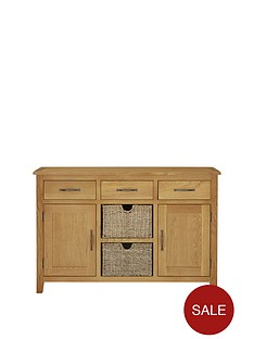london-seagrass-oak-ready-assembled-large-sideboard-with-baskets