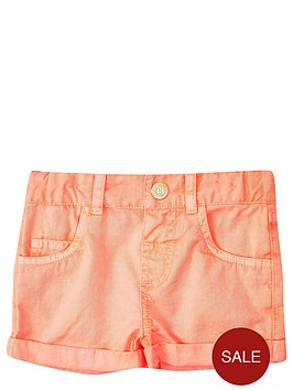 river-island-mini-girls-fluronbspcoral-shorts