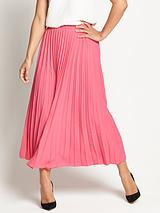 Sunray Pleated Midi Skirt