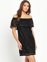 Frill Bardot Dress