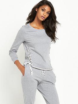glamorous-tie-side-jersey-sweat-grey-marl
