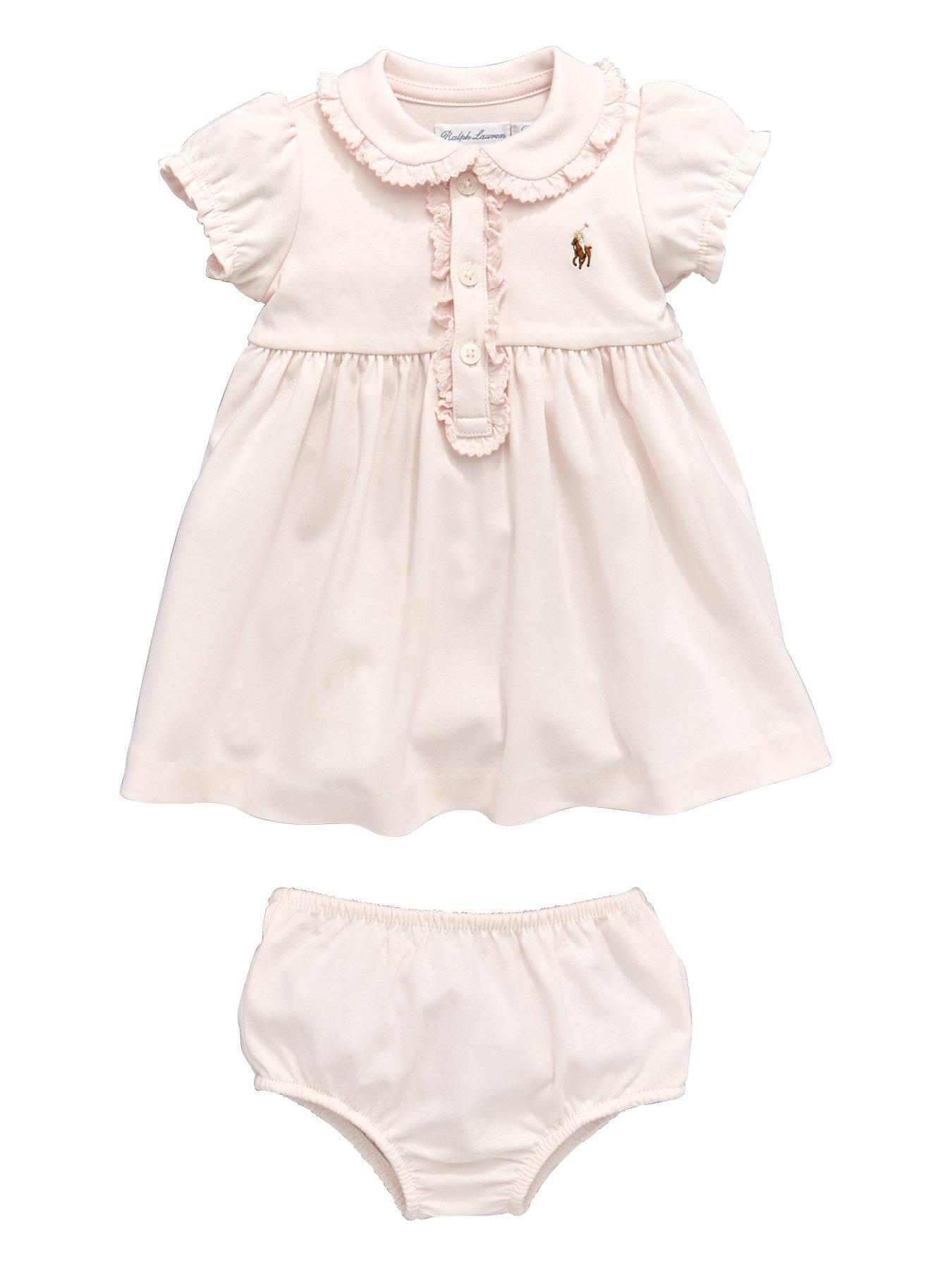 ralph lauren baby girls polo dress and knickers 2 piece