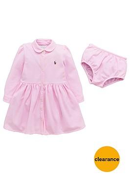 ralph-lauren-girls-long-sleeve-polo-dress-and-briefs-set