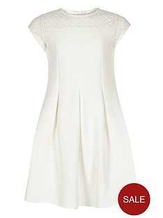 river-island-girls-cream-lace-yoke-skater-dress