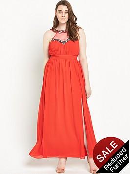 little-mistress-curve-embellished-maxi-dress-red