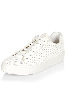 river-island-perforated-lace-up-trainer