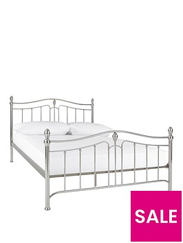 cirencester-double-metal-bed-frame-with-optional-mattress-buy-and-save
