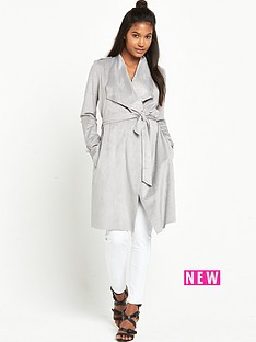 river-island-suedette-belted-trench-coat