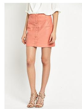 river-island-punbspbutton-through-skirt-pinknbsp