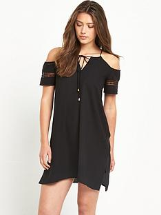 river-island-cold-shoulder-embroidered-swing-dress